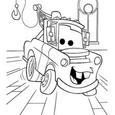 Cars Movie Tow Mater Coloring Page