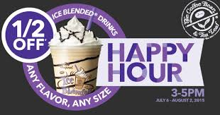 Coffee Bean Happy Hour