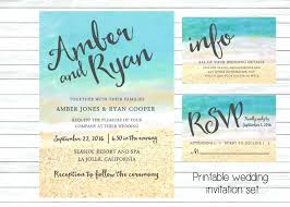 Amazing Beach Wedding Invitations Cheap And
