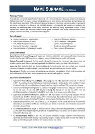 Example Finance Director CV Page