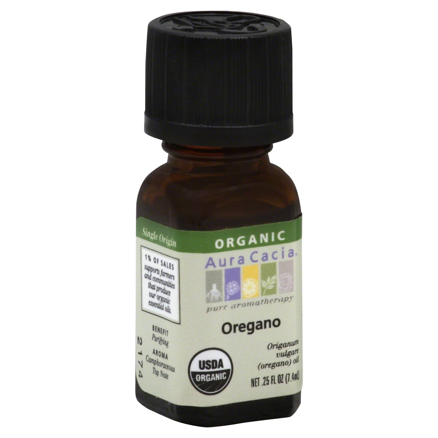 Aura Cacia Organic Essential Oil - Oregano, .25oz