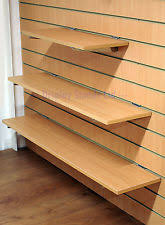 Wooden Shelves With Brackets For Slatwall Retail Display Slat Wall Shelving Glossy Floor Strip