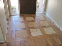 green countertops wood floor with tile inlay wood floor with tile
