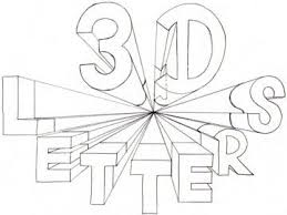 16 best Letters in Perspective 3D Lettering images on Pinterest