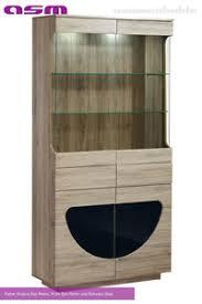 details zu wohnzimmer vitrine glasvitrine schaukasten glasregal regal midnight t03 led pvc