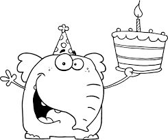 Popular Birthday Cake Coloring Page 36