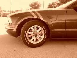 2005 Mustang White Letter Tires