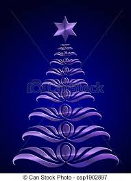 28 Collection Of Purple Christmas Tree Clipart