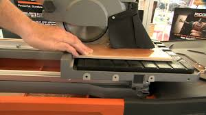 Rigid 7 Tile Saw Blade by 2013 Hardware Show Ridgid 8 In Portable Tile Saw Youtube