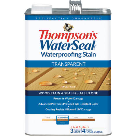 Thompsons Waterseal Waterproofing Stain - Transparent, Woodland Cedar,­ 3.8L