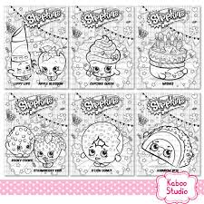 6 Shopkins Coloring Sheets