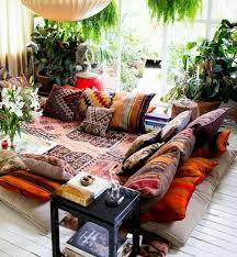 orientalische dekoration kein sofa sondern weicher teppich