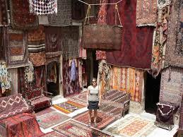 magasin de tapis photo beau magasin de tapis en plein air turquie goreme