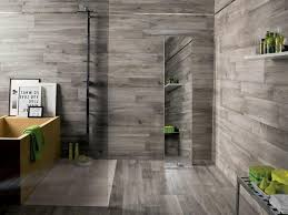 gray wood tile bathroom peenmedia