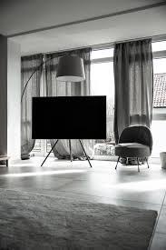 home wohnzimmer design mit samsung qled tv black palms