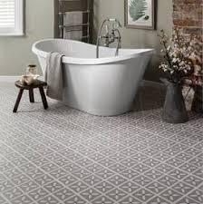 Grey Designer Vinyl Flooring In A Bathroom Ideas