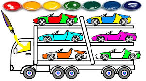 Learn Colors For Kids With Super Car Carrier Truck