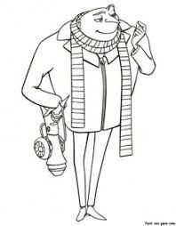 Free Printable Gru Despicable Me 2 Disney Characters Coloring Pages For Kids