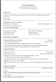 Government Sample Resume For Job Examples