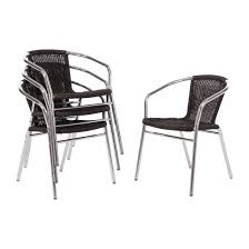 Bolero Aluminium And Black Wicker Chairs Black (Pack Of 4) 3pc Black Rocker Wicker Chair Set With Steel Blue Cushion Buy Stackable 2 Seater Rattan Outdoor Patio Blackgrey Bargainpluscomau Best Choice Products 4pc Garden Fniture Sofa 4piece Chairs Table Garden Fniture Set Lissabon 61 With Protective Cover Blackbrown Temani Amazonia Atlantic 2piece Bradley Synthetic Armchair Light Grey Cushions Msoon In Trendy For Ding Fabric Tasures Folding Chairrattan Chairhigh Back Product Intertional Caravan Barcelona Square Of Six
