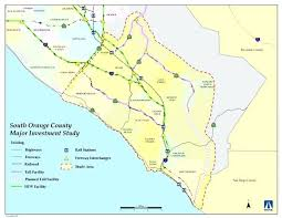 Orange County Map Of Northern California Lines