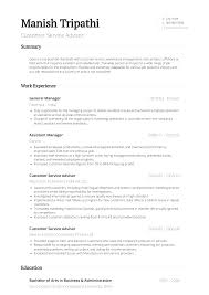 Customer Service - Resume Samples & Templates | VisualCV Customer Service Manager Job Description For Resume Best Traffic Examplescustomer Service Resume 10 Skills Examples Cover Letter Sales Advisor Example Livecareer How To Craft A Perfect Using Technical Support Mcdonalds Crew Member For Easychess Representative Patient Template On A Free Walmart Cashier Exssample And 25 Writing Tips