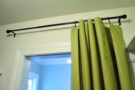 Target Curtain Rod Ends by Making No Sew Bedroom Curtains With Fabric And Hem Tape Young