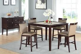 Tall Dining Room Tables White And Black Table Color Sets 5 Piece