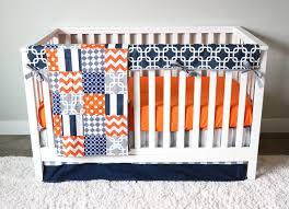 Boy Crib Bedding by Baby Boy Crib Bedding Set Orange Navy Blue And Grey U2013 Giggle