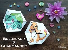 Hattifant Pokemon Evolution Papertoy Flextangle Kaleidocycle Coloring Page Free Printable Bulbasaur Charmander