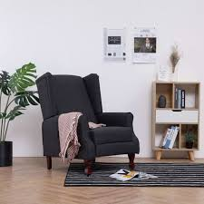 relaxdays retro sessel stoffbezug wohnzimmer holzbeine hbt