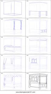 How To Draw A Four Poster Bed Printable Step By Drawing Sheet DrawingTutorials101