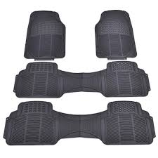 Toolsempire 4 PCS All Weather Rubber Vehicle Floor Mats Universal ... All Weather Floor Mats Truck Alterations Uaa Custom Fit Black Carpet Set For Chevy Ih Farmall Automotive Mat Shopcaseihcom Chevrolet Sale Lloyd Ultimat Plush 52018 F150 Supercrew Husky Whbeater Rear Seat With Logo Loadstar 01978 Old Intertional Parts 3d Maxpider Rubber Fast Shipping Partcatalog Heavy Duty Shane Burk Glass Bdk Mt713 Gray 3piece Car Or Suv 2018 Honda Ridgeline Semiuniversal Trim To Fxible 8746 University Of Georgia 2pcs Vinyl