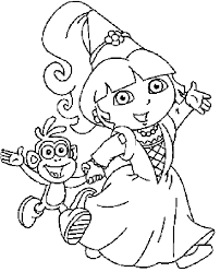 Coloring Picture Of Princess Dora