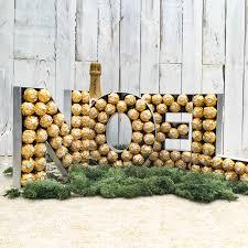 Ferrero Rocher Christmas Tree Stand by Ferrero Rocher Sweet Wooden Letter Sweet Tree By Browns