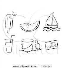 cartoon of a black and white popsicle with a bite royalty free with summer season clipart black and white summer season clipart black and white