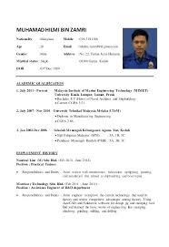 Resume Template 2018 Malaysia Packed With First Sample