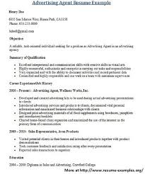For More And Various Advertising Resumes Visit Resume Examplesorg Find Great Tips Writing Cover Letters