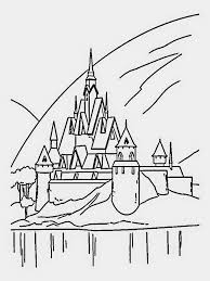 Coloring Pages Frozen Castle Free And Printable At Ice Page