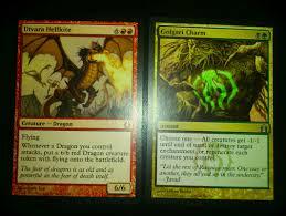 Mtg Enchantment Creature Deck by Rtr Golgari Charm And Utvara Hellkite The Rumor Mill Magic