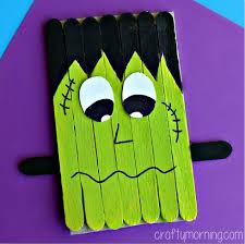 Popsicle Stick Frankenstein Craft For Kids To Make
