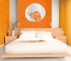 Fresh Orange Bedroom Design