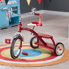 radio flyer 12 in classic red dual deck tricycle hayneedle