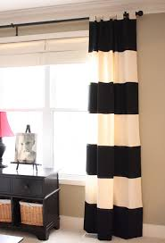 Yellow And White Striped Curtains by No White Walls For Me