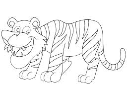 National Animals Tiger Coloring Page