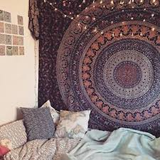 Bold Ideas Tapestry Wall Hanging In Conjunction With Decor Hippie Tapestries Bohemian Mandala Image Is Loading Hangings Amazon Elephant