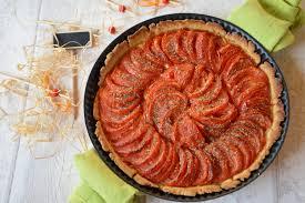 paruline en cuisine tarte à la tomate et à la moutarde au fil du thym