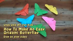 How To Make Origami Butterfly For Kids Step By Instruction