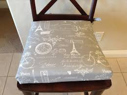 Amazon.com: Chair Cushion Pad, With Paris Themed Fabric, Seat ... Printed Stretch Slipcover 1 Seater Ding Chair Covers Choose Your Height Standard Cushions Target Without Only Decor Eaging Kitchen Interior With Outstanding For Chairs Gray Modern Grey Seat Pads Pad Replacement Images Incredible Ties Best Fabric For Kitchen Chair Cushions Chaing Ding Seat Walmart Protectors Sure Fit Pique Room With Ikat Fabric Cushion Cover Red Chenille Home Chums Round Barstool Cover Cushioned Foam Elasticized Buffalo Check