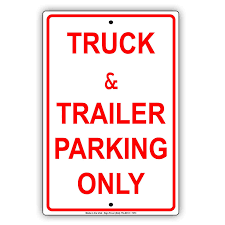 100 How To Parallel Park A Truck Mazoncom Trailer Ing Only Luminum Metal Sign